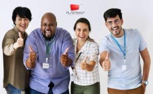 banner gafete para empleados de identificacion
