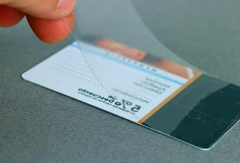lamina de tarjeta de pvc