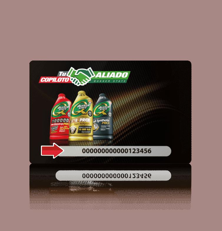 opcion de folio en tarjeta