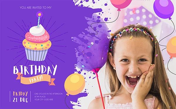 diseño de tarjetas para cumpleaños