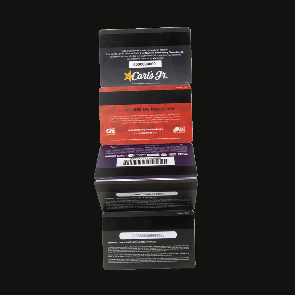 tarjetas con banda magnética En Plastikko
