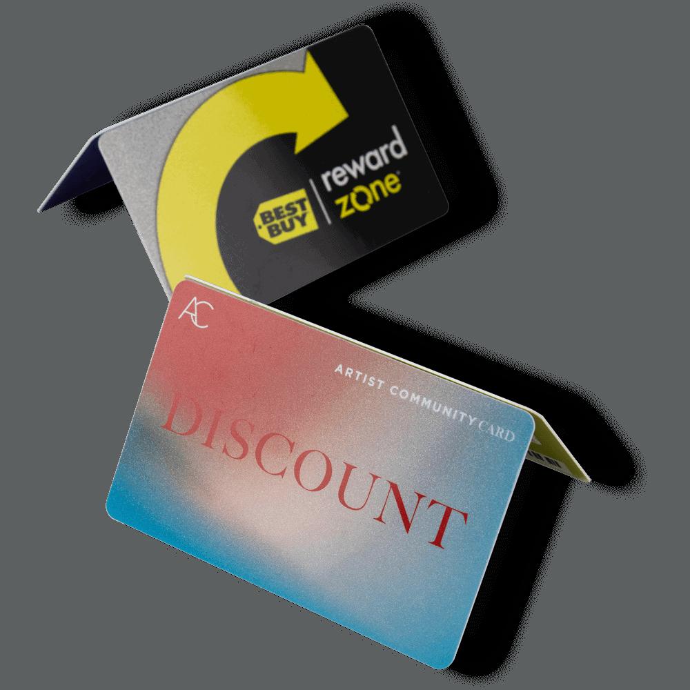 tarjetas con Fondo Metálico En Plastikko