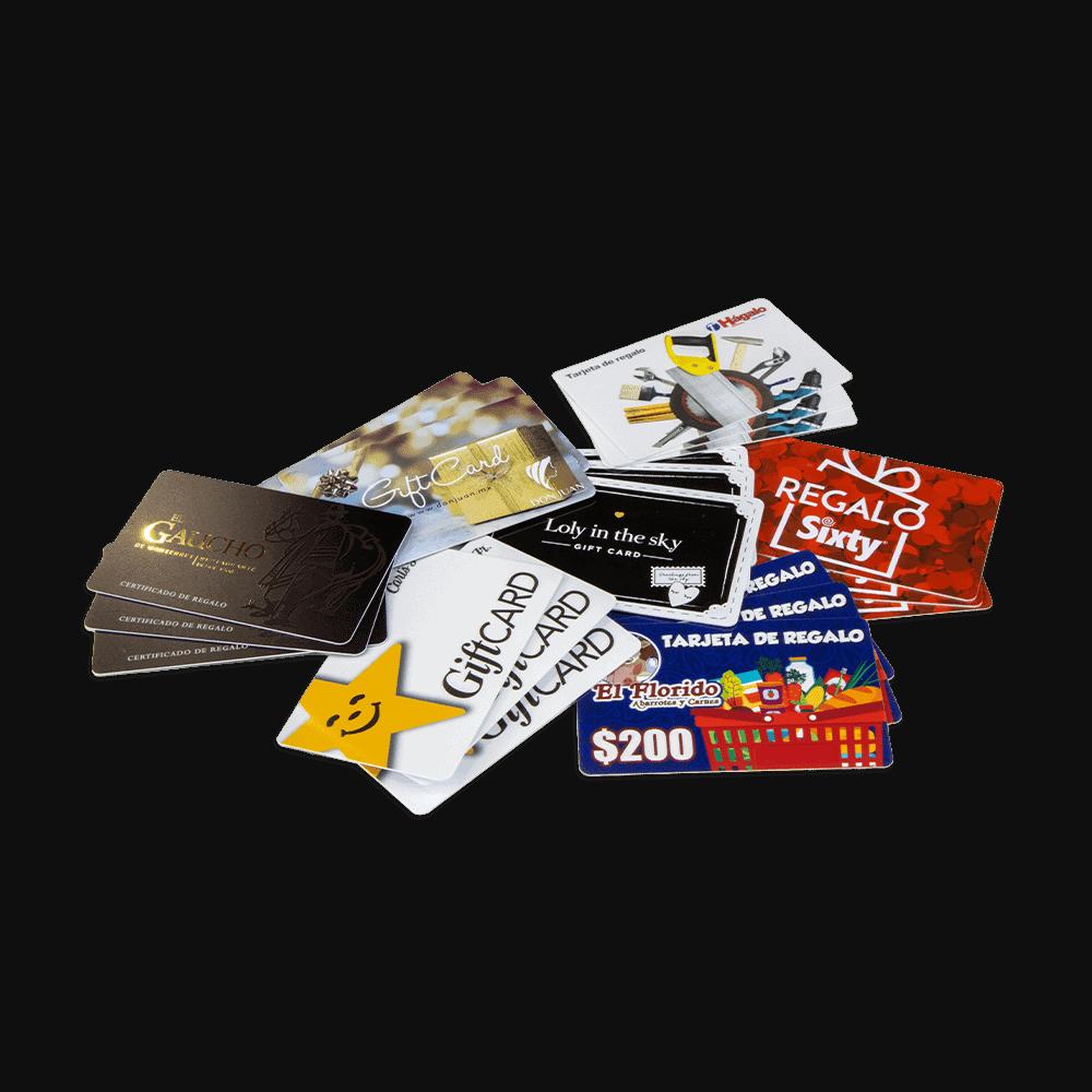 Tarjetas Certificado de Regalo Gift Card Plastikko