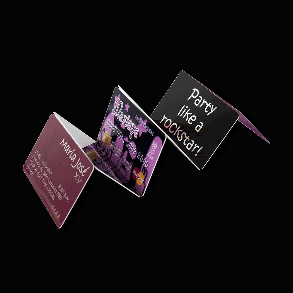Tarjetas de invitación Plastikko