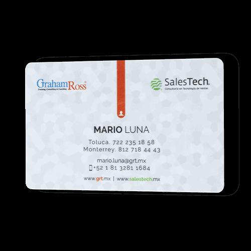 tarjetas de presentacion con plastikko