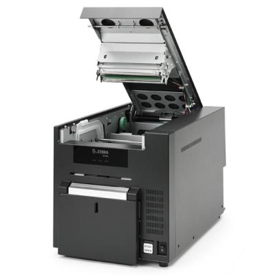 plastikko ofrece impresora de tarjetas modelo zc10l zebra abierta